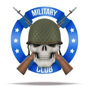 Military club or company badges and labels - stock illustration