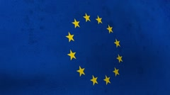 Flags of the United Kingdom and the European Union. UK Flag EU Stock Footage