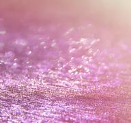 Glitter vintage lights background. pink and silver. defocused. Stock Photos