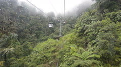 View from cable car for service tourism to mountains Stock Footage