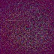 Multi colored fractal. Stock Illustration