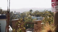 Hollywood Hills Houses and Trees - stock footage