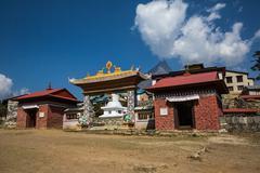 TENGBOCHE, NEPAL-APRIL 30: Tengboche Monastery 30, 2016 in Tengboche, Nepal.  - stock photo