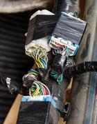Car automotive wiring Stock Photos
