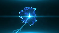 Neon Blue Magical Portal - 8 - stock footage