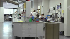 Woman working in the laboratory Stock Footage