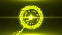 Neon Yellow Magical Portal - 39 - stock footage