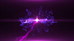 Neon Violet Magical Portal - 29 - stock footage