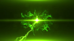Neon Green Magical Portal - 15 - stock footage