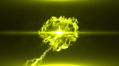 Neon Yellow Magical Portal - 22 - stock footage