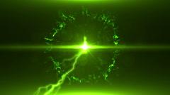 Neon Green Magical Portal - 16 - stock footage