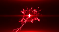 Neon Red Magical Portal - 14 - stock footage
