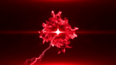 Neon Red Magical Portal - 24 - stock footage
