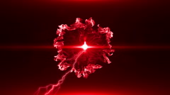 Neon Red Magical Portal - 8 - stock footage