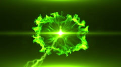 Neon Green Magical Portal - 17 - stock footage
