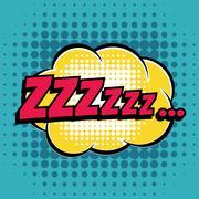 Zzz comic book bubble text retro style - stock illustration