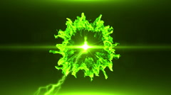 Neon Green Magical Portal - 31 - stock footage