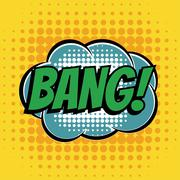 Bang comic book bubble text retro style Stock Illustration