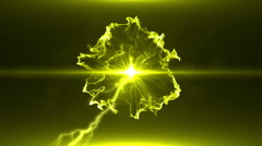 Neon Yellow Magical Portal - 7 - stock footage
