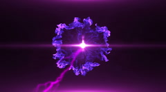Neon Violet Magical Portal - 8 - stock footage