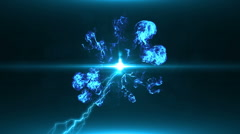Neon Blue Magical Portal - 12 - stock footage