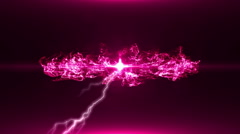 Neon Pink Magical Portal - 41 - stock footage