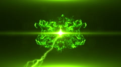 Neon Green Magical Portal - 28 - stock footage