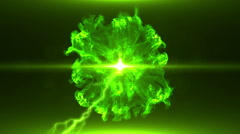 Neon Green Magical Portal - 35 - stock footage