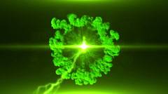 Neon Green Magical Portal - 37 - stock footage