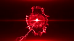 Neon Red Magical Portal - 34 - stock footage