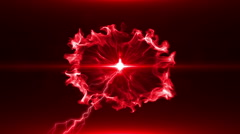 Neon Red Magical Portal - 17 - stock footage