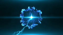 Neon Blue Magical Portal - 9 - stock footage