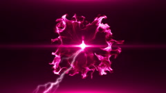 Neon Pink Magical Portal - 18 - stock footage
