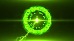 Neon Green Magical Portal - 39 - stock footage