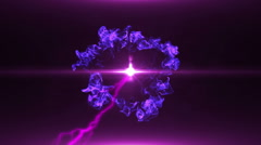 Neon Violet Magical Portal - 20 - stock footage