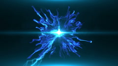 Neon Blue Magical Portal - 27 - stock footage