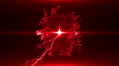 Neon Red Magical Portal - 2 - stock footage