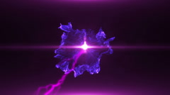 Neon Violet Magical Portal - 10 - stock footage
