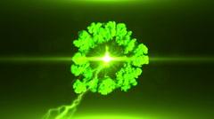 Neon Green Magical Portal - 36 - stock footage