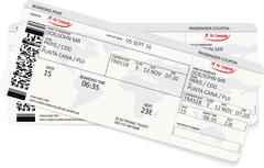 Pattern of a boarding pass or air ticket Stock Illustration