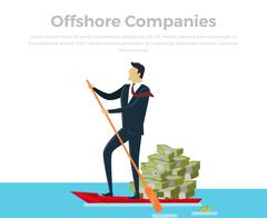 Panama Papers Offshore Company Stock Illustration