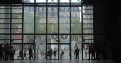 Timelapse of people at the entrance of Pompidou Centre Stock Footage
