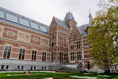 Rijksmuseum located in Amsterdam, Netherlands during cloudy day Stock Photos