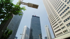 Sky Scrapers in Shinjuku West - stock footage