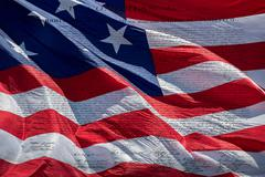 American Declaration of independence 4th july 1776 on usa flag backfround Stock Photos