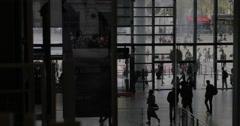Centre Pompidou in Paris, France Stock Footage