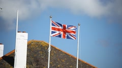 UK flag blown by the wind Stock Footage