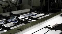 Print press typography machine in work Stock Footage