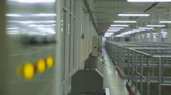 Yellow Button on the Panel. Light Industrial Premises. Water Treatment Plants Stock Footage