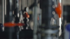 Water Treatment System. Piping. Black Pipe. Focus Change. Hydraulic System - stock footage